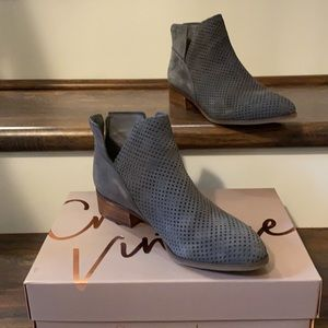Grey booties; excellent condition, worn 1 time